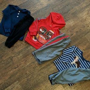 18m winter bundle long sleeve shirts pants& hoodie
